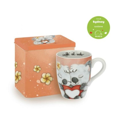 "MUG CON SCATOLA IN LATTA ""SYDNEY IN LOVE"""